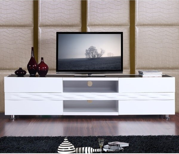 B Modern Publisher Tv Console In White Traditional