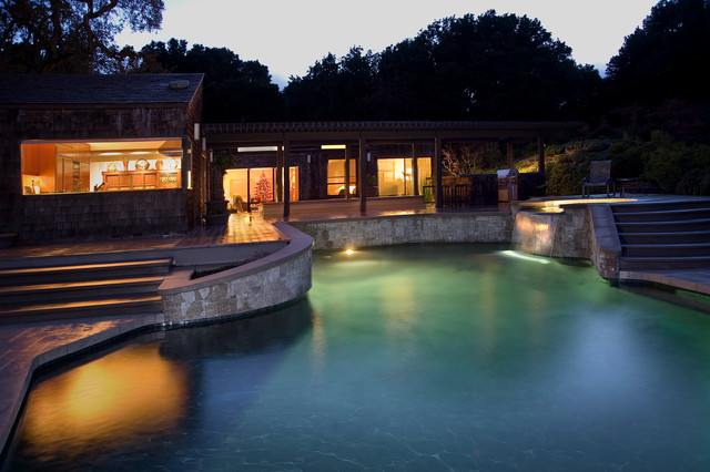Los Altos Hills Residence traditional-pool