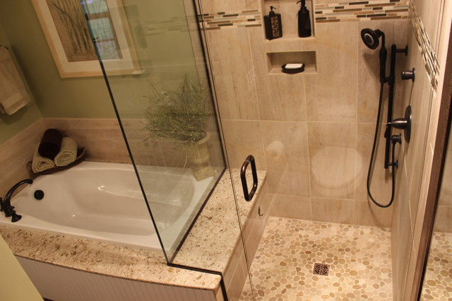 Bathroom Ideas Replace Tub With Shower : Master bath remodel west akron oh transitional
