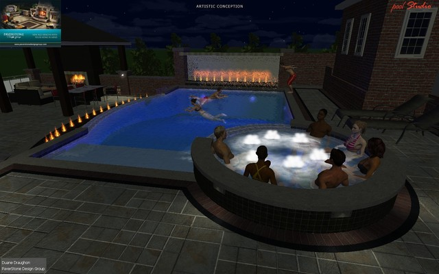 New Albany Oh Gunite Pool W Outdoor Living Space Traditional Rendering Columbus By