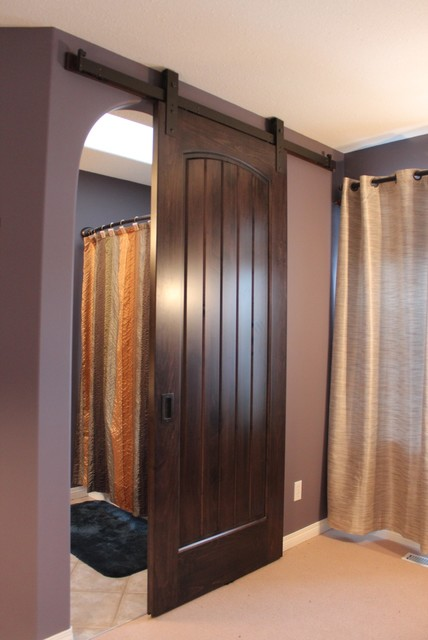 Sliding barn doors interior doors calgary by the for Barn door closet door ideas