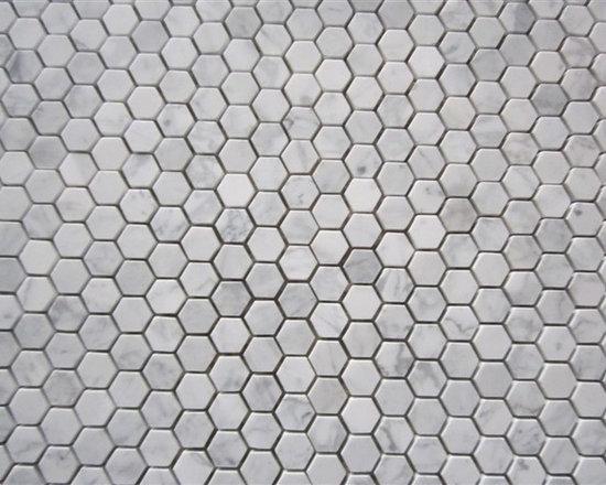 Stone Mosaic, Marble Mosaic - bianco cararara irregular stone mosaic, marble mosaic ,stone tile ,stone pattern, marble tile, marble pattern