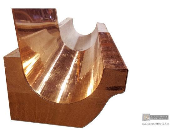 Gutter liners - Copper gutter liner for wooden gutter