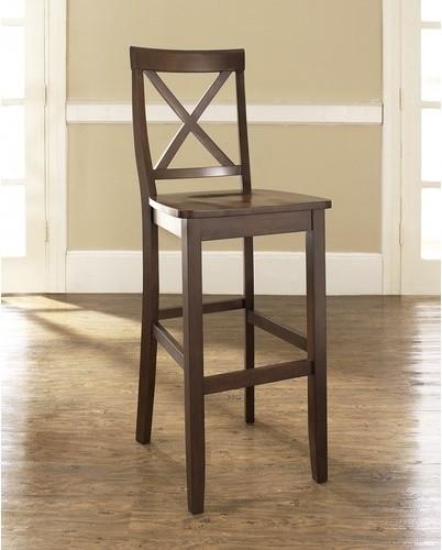 """X-Back 30"""" Barstool in Mahogany (Set of 2) modern-bar-stools-and-counter-stools"""