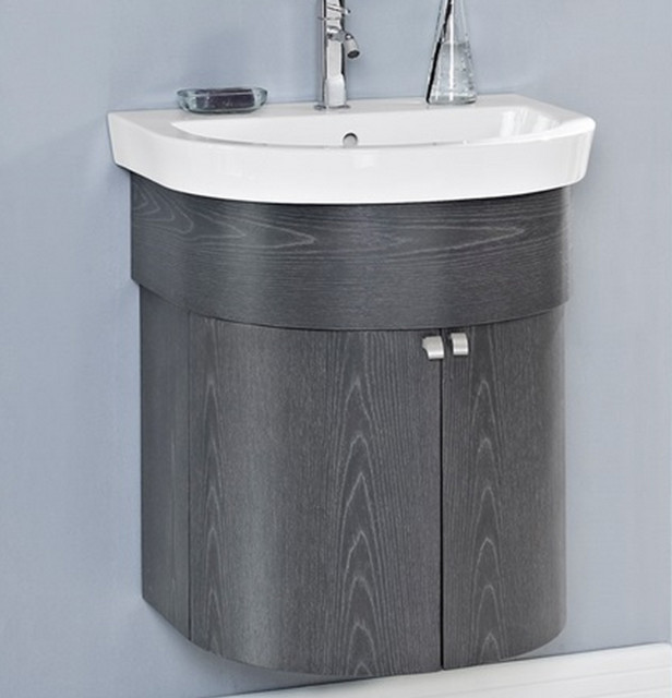 Fairmont Boulevard 24 Curved Wall Mount Vanity Charcoal