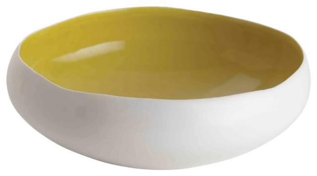 Whitney Irregular Edge Flat Bowl contemporary-decorative-bowls