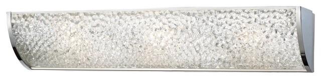 ELK Lighting Encased Crystals 31182/3 Bathbar - Polished Chrome - 24W in. modern-bathroom-vanity-lighting