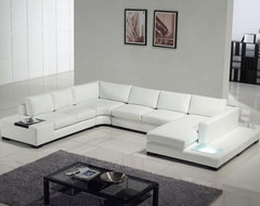 Modern white top grain leather sofa modern-sofas