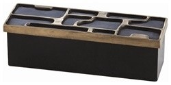 Arteriors Piper Brass Wood Lidded Box  storage boxes