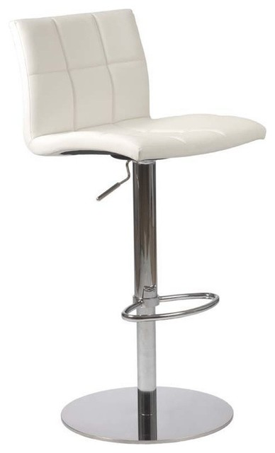 Eurostyle Cyd Adjustable Height Bar/ Counter Stool in White modern-bar-stools-and-counter-stools