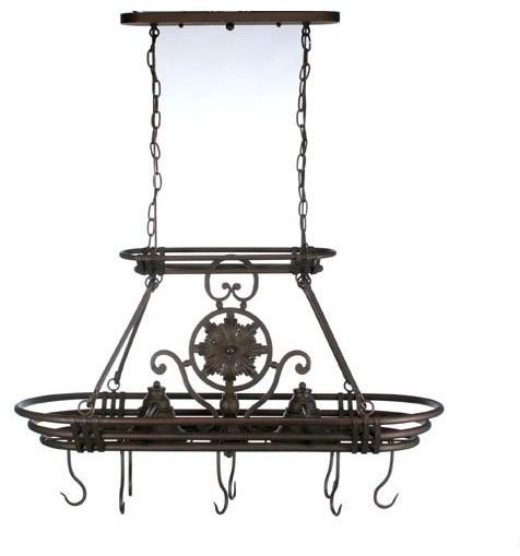 dorada lighted pot rack contemporary pot racks by hayneedle. Black Bedroom Furniture Sets. Home Design Ideas