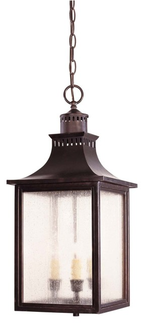 Savoy House Monte Grande Outdoor Chain Hung Lighting Fixture in English Bronze traditional-outdoor-ceiling-lights
