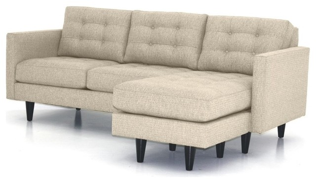 Beverly Revers Chaise Sofa Woven Beach Contemporary