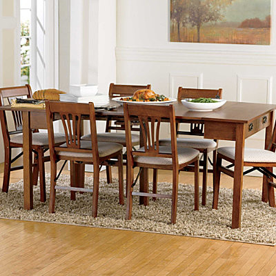 3-in-1 Mission Expandable Wood Table contemporary-dining-tables