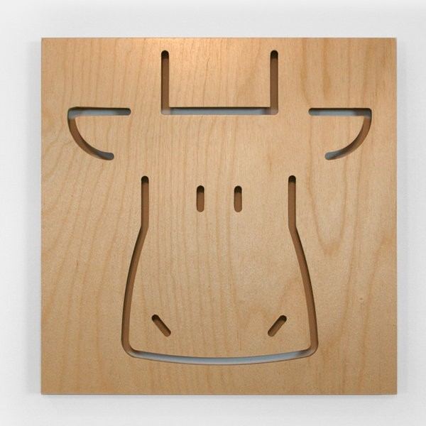 Spot on Square Charles the Cow modern-kids-wall-decor