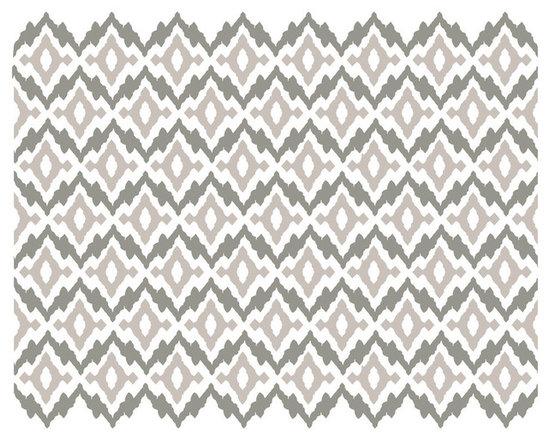 Dana Decals - Ikat Pattern Wall Decal - Tribal Ethnic Organic Ikat Pattern