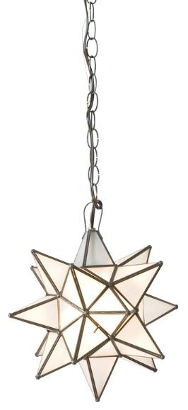 Worlds Away Frosted Glass Star Chandelier-Available in Three Different Sizes, La contemporary-pendant-lighting