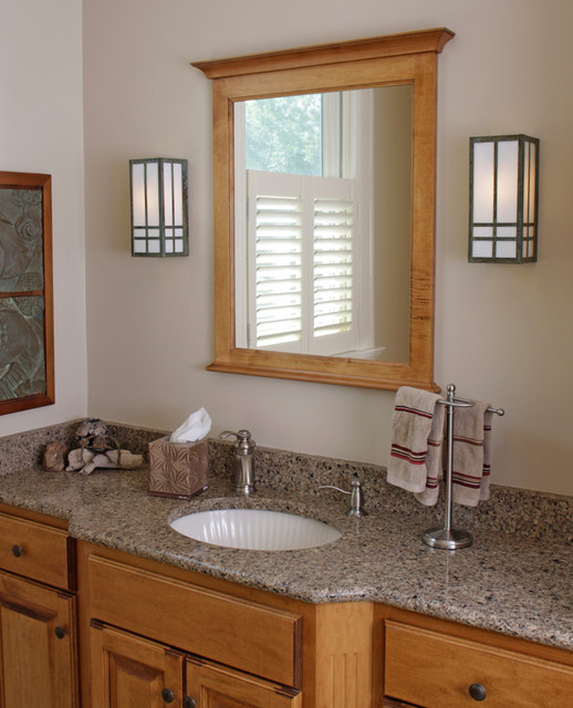Craftsman Style Bathroom Images : Prairie style bathroom lighting craftsman