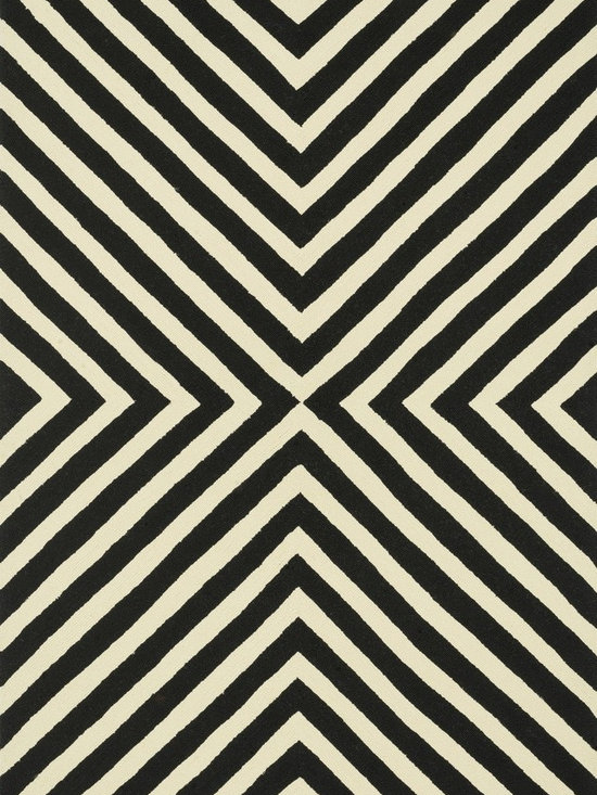 """Loloi Rugs - Loloi Rugs Palm Springs Collection - Black / Ivory, 3'-6"""" x 5'-6"""" - For the first time ever, world renowned designer Dann Foley brings his eye for great design and modern living to outdoorrugs. With patterns and colors as dynamic as Dann's persona, the Palm Springs Collection reflects Dann's passion forfun outdoor decorating. Palm Springs is hand hooked in China of 100% polypropylene that's specially treated to befade-resistant in spite of regular sunshine or rain."""