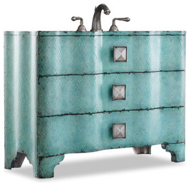 Cole Co Chambers Vanity Chest Turquoise 44