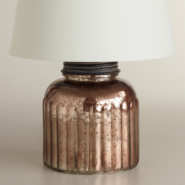 mercury glass canister accent lamp base industrial lamp bases. Black Bedroom Furniture Sets. Home Design Ideas