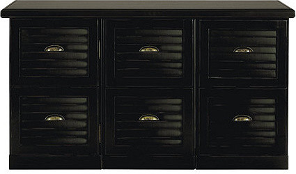 Southporte 3-Cabinet Credenza - Traditional - Filing Cabinets - by Ballard Designs