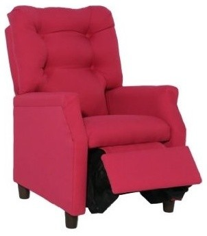 Harmony Kids Deluxe Recliner, Hot Pink Cotton contemporary kids chairs