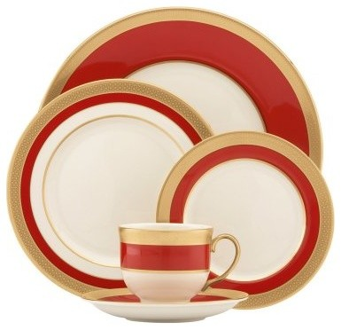 Lenox Embassy 5 Piece Place Setting modern-dinnerware-sets