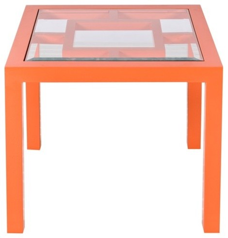 Worlds Away Sag Harbor Orange Table modern-side-tables-and-end-tables