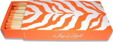 Zebra Matches, Orange contemporary-fireplace-accessories