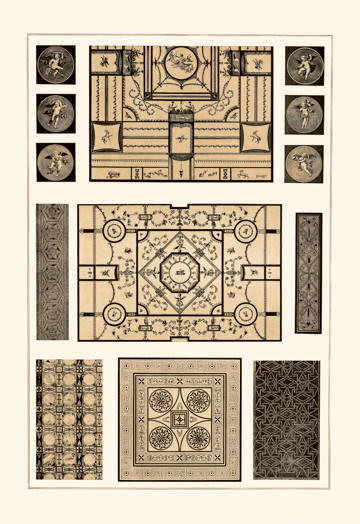 Painted Ceilings and Pavements from Pompeii 20x30 poster contemporary-prints-and-posters