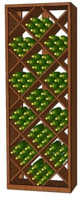 WineRacks.com Premium Series Full Height Compound Diamond Bin Rack modern wine racks
