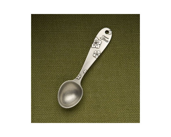 """Beehive Blossom Tea Scoop - Steep the perfect amount of loose leaf tea with this special Blossom Tea Scoop by Beehive. Measures a generous teaspoon and is engraved on the back with the words """"one scoop per cup."""""""