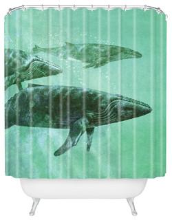 terry fan pod shower curtain bord de mer rideau de douche par deny designs. Black Bedroom Furniture Sets. Home Design Ideas