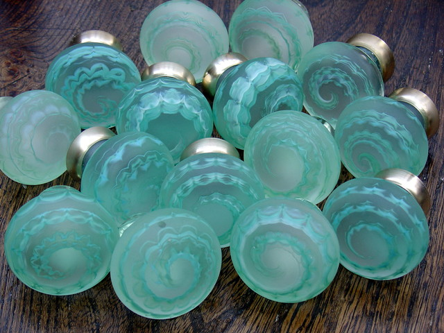 Artisan glass knobs - Eclectic - Cabinet And Drawer Knobs - other metro - by Merlin Glass