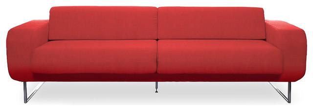 Camden Red 3-Seat Couch modern-sofas