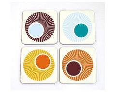 Retro Round Oval Circles and Swirls by Art is Everything modern barware