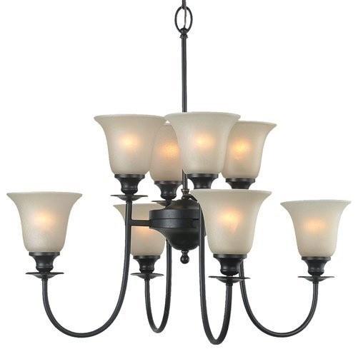 Royce Lighting Valhalla 8 Light Chandelier with Cream Snow Glass chandeliers