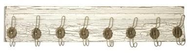IMAX Davis Wall Rack - 8 Hook - White modern-wall-hooks