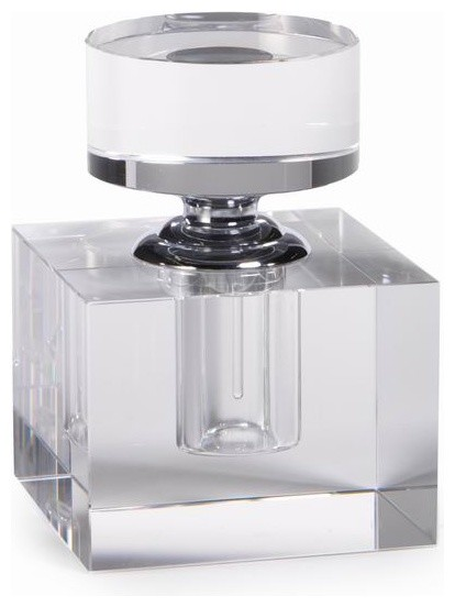 Modern Morocco Glass Perfume Bottle, Cube - Contemporary ...