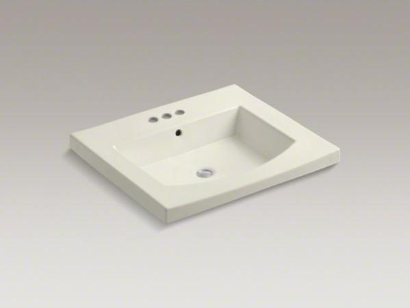 "KOHLER Persuade(R) Curv vanity-top bathroom sink with 4"" centerset faucet holes contemporary-bathroom-sinks"