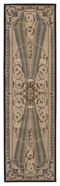 "Versailles Palace VP03 2'3"" x 8' Beige Rug traditional-rugs"