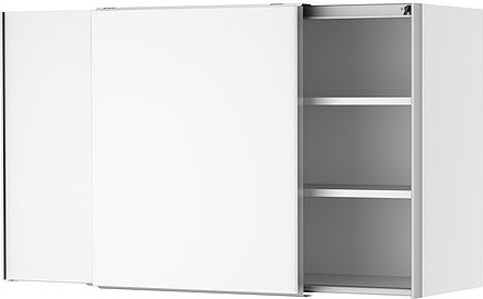 AKURUM Wall cabinet with sliding doors - modern - kitchen cabinets ...