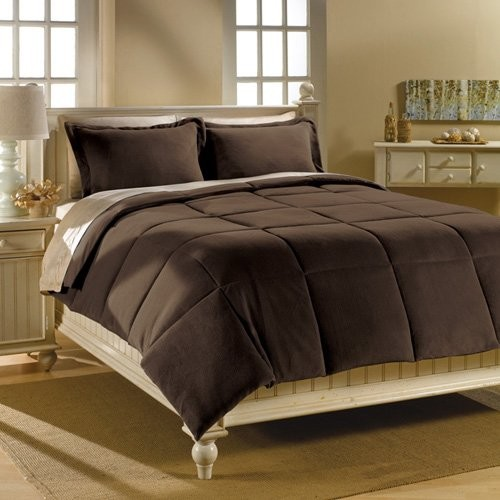 Microplush Solid After Dark Comforter Mini Set contemporary bedding