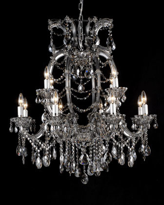 "Eight-Light ""Smoke"" Crystal Chandelier traditional-chandeliers"
