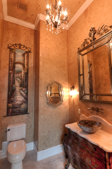 Elegant bathrooms in the Texas Hill Country by Stadler Custom Homes mediterranean-bathroom