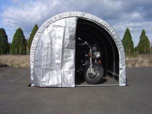 "Storage Solutions Round Top Shelter, 8'L x 8'W x 6'6""H modern-garage-and-tool-storage"