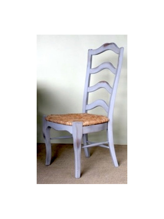 French Ladder Back Chair In Slate - Made by http://www.ecustomfinishes.com