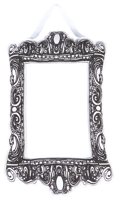 Puffy Frame - Rectangle - Black/White eclectic-picture-frames