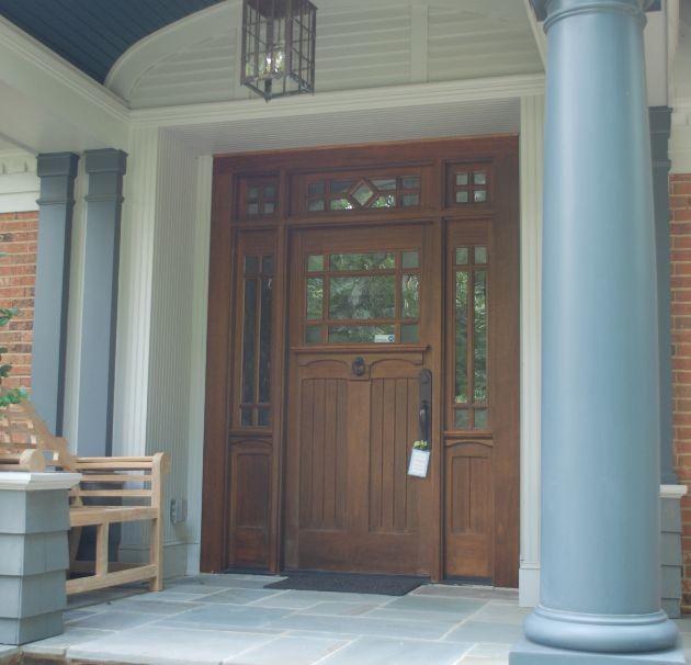 Craftsman double front door - Exterior Wood Doors Craftsman Unique Wood And Glass Front